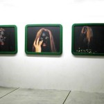 Alienation Self 1-66 digital photographs, wooden frames covered in velvet, 100cm x 80cm