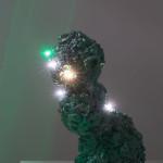 """If Not Now / Když né teď / Destinies 1-6 """"Left"""",light object, lights, spraypaint / Osud 1-6 """"Doleva"""" světelný objekt, sprej"""