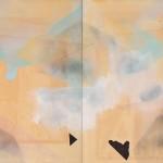 The Thoughts of Tomorrow (kresba) 2 paintings to form one, 2 x 78cm x 64cm, mixed technique  Zítřejší myšlenky 2 tvořící jeden, 2 x 78cm x 64cm, kombinovaná technika