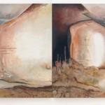 Space Dust Leftovers BZbytky hvězdného prachu  2 x 135cm x 130cm, acrylic and oil painting on canvas  2 x 135cm x 130cm, akryl a olej na plátně