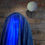 Nonlocal II // Blue Boyfriendlight installation, mixed materials, 200 cm x 200 cm